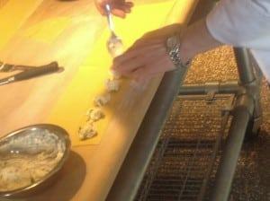Hand making Ravioli