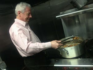 Charlie Adler..cooking on the Job!